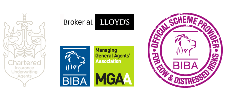 BIBA official scheme provider for EOW & distressed risks, Broker at Lloyd's, BIBA and MGAA Members